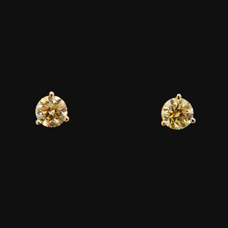 Boucle d'oreille clou diamant or blanc de 1g15, diamants 2x25 carat. - Prix 1590 €