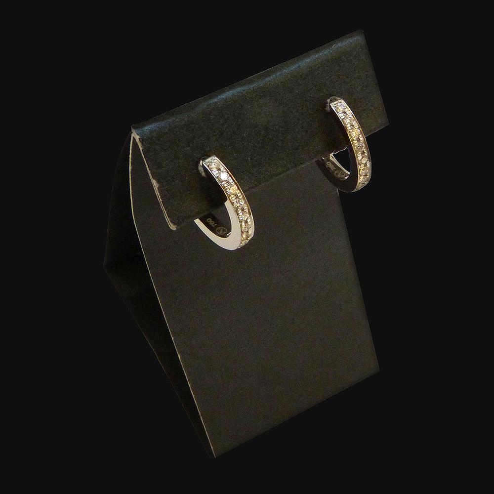 Boucle d'oreille or blanc de 2g50, diamants 0.20 carat. - PRIX : 1020 €